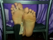 Hard tickle feet challenge