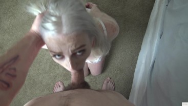 Daddy Fucks His Little Blonde Slut