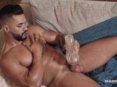 Maskurbate Straight Arab Muscle Hunk Jerks Off & Uses Flesh Jack