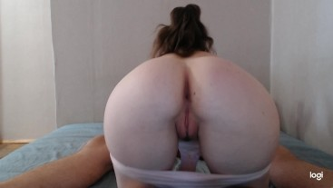 Sucks dick on hidden camera. Back view blowjob