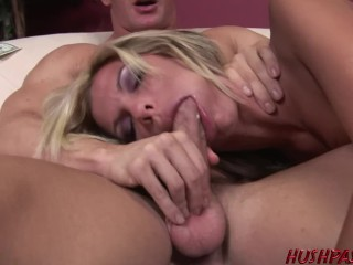 Breast naked pic womens hot housewife kendall brooks gets tagged hardcore by 2 dudes and eats cum, h