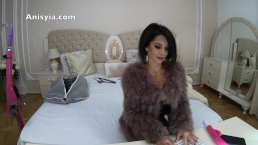 4k Anisyia Livejasmin highclass slut - sexy fur coat and stiletto boots
