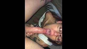Smoking Hot Rocker Chick Gives Hubby Epic Blowjob