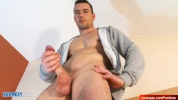 Real French str8 dude gets gilmed his huge cock in a gay porn