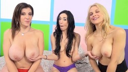Aiden Ashley, Sarah Vandella and Sara Jay having fun