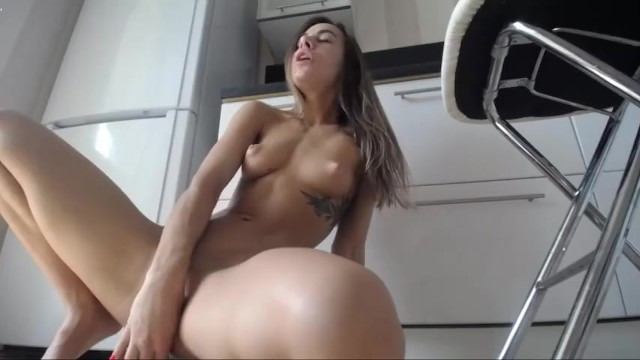 Slutload small girl big dildo Amazing solo fit girl with lovense lush and dildo from chaturbate