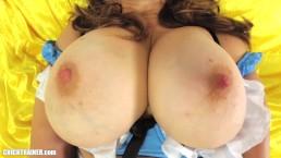 DIY Sextape: MILF Solo Orgasm -- Sexy Nylon Stockings & Big Natural Tits
