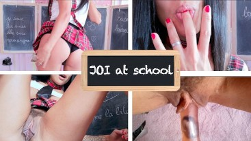 #JOI2018 (EN SUB): Jerk off and listen to my ass stories at school