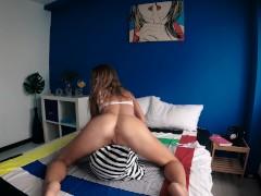 Sexy bitch Sasha Bikeyeva masturbation with whipped cream