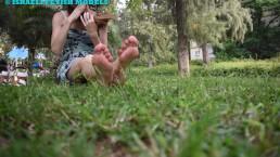 FOOT CREEP AT THE PARK