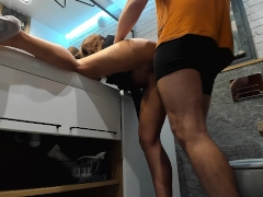 Quickie after lapdance - hot young wife shaking ass ! ! !