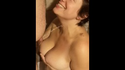 Kinky wife takes a load of hot piss and loves it