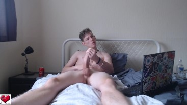 Morning Wood Wank & Cum