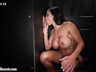 Pussy Whipped Hard Jewels Jade come back for more Swallowing at Gloryhole. Episode 2