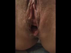 Creamy wet pussy close up - Female orgasm