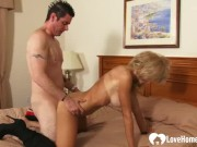Lucky stud fucks an incredibly horny MILF