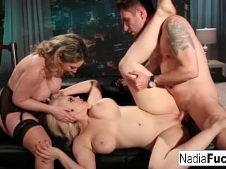 Digital sin download hot club goers double team a big dick stud together!, nadiafucks nadia white pornstar puba blonde