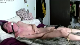 Tied myself to the bed and Vibed to orgasm