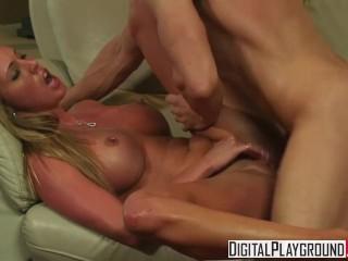 Digital Playground - Samantha Saint shows off her pierced nips and clit