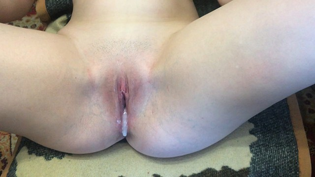 Teen unwanted internal cum My roommate fucks me and cum inside close up creampie