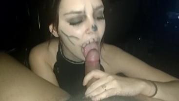 Halloween skull fuck