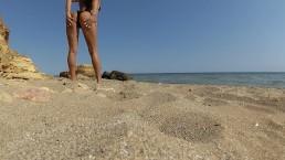 Public blowjob at the beach
