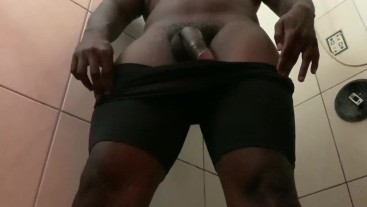Jerking Off My BBC While Showering (Short Version)