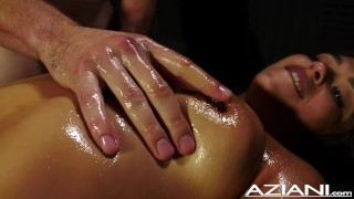 Nude male gives young girl massage with happy ending