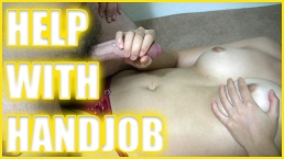 Helping an old friend with handjob - Quickie with Stranger - Cuckold Cum