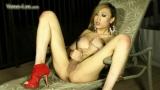 TS Venus Lux Covers Herself In Cum