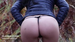 Hot autumn outdoor quicke - amateur public POV