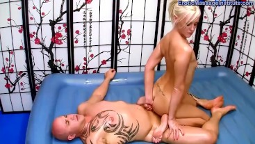 Oil Massage turns to Fucking the Masseuse