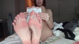 Sissy Training Instructions for Fuckable Feet like Mine!