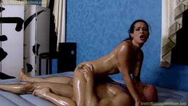Katrina Jade Oil Massage Fucking | Cum in her Mouth