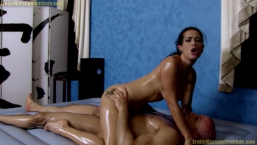 Katrina Jade Oil Massage Fucking | Cum in her Mouth