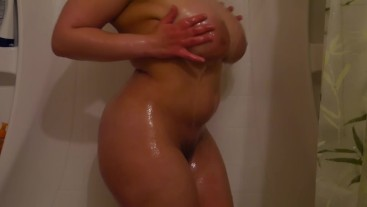 Multiple Moaning Orgasms in the Shower