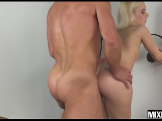 Sexy natural blonde Nesty fucked hard by her dream man