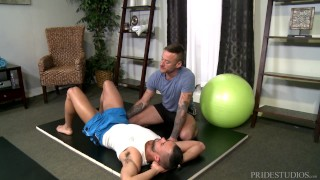 Anal dick big pridestudios trainer private his lessons yoga hairy guy