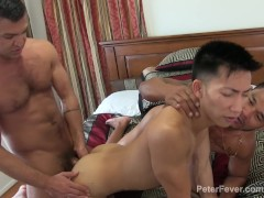 Latino Asian Water Sports and Threeway Kink Dominic Pacifico