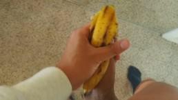 I Jerked Off My Dick with Banana Peel