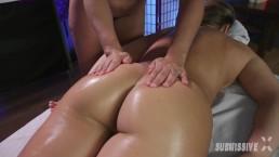Oiled Lesbian Nuru Massage
