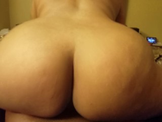 Milf face farting pawg reverse cowgirl creampie, creampie bubble butt