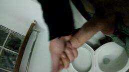 Cumming in the toilet!