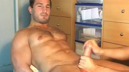 Full-video: Real hetero neighbour serviced in a gay porn in spite of him.