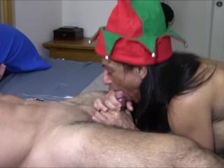 Free camera girls tis the season for blowjobs, big boobs latin mom mother fake tits