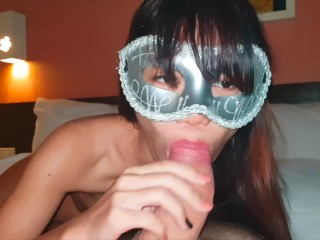 young thai give nice blowjob to a big cock