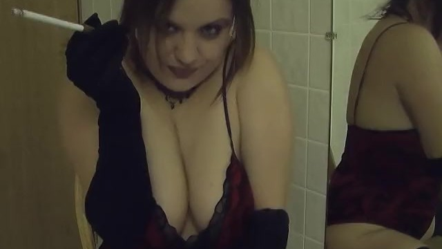 Jacket smoking vintage Smoking vintage holder and gloves in the bathroom - amateur hot wife clip