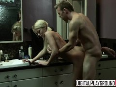 Digital Playground - Pigtail blonde Riley Steele gets fucked in the bathro