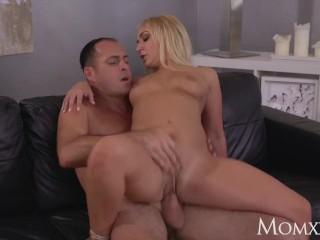 MOM Hot British blonde in erotic night put on takes tremendous flexible dick