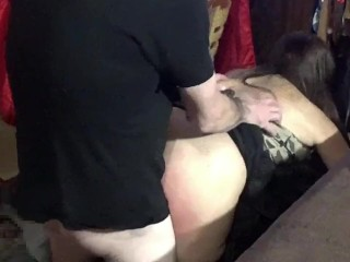 Fucked and spanked